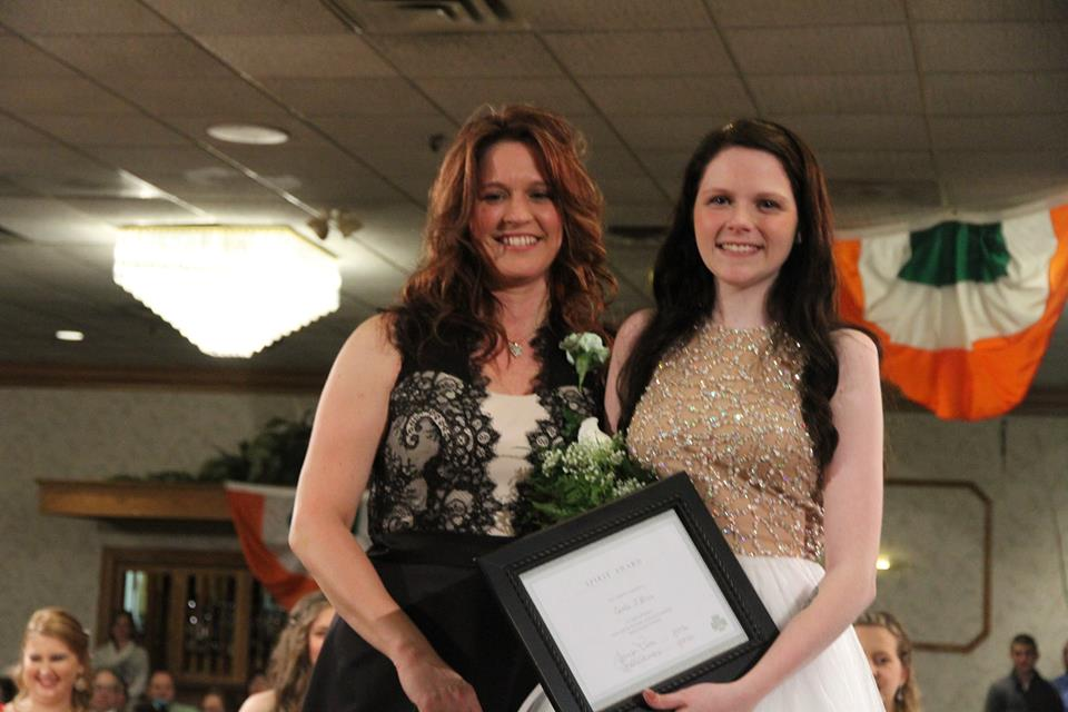 2016 Irish Spirit Award Recipient Caitlin O'Brien